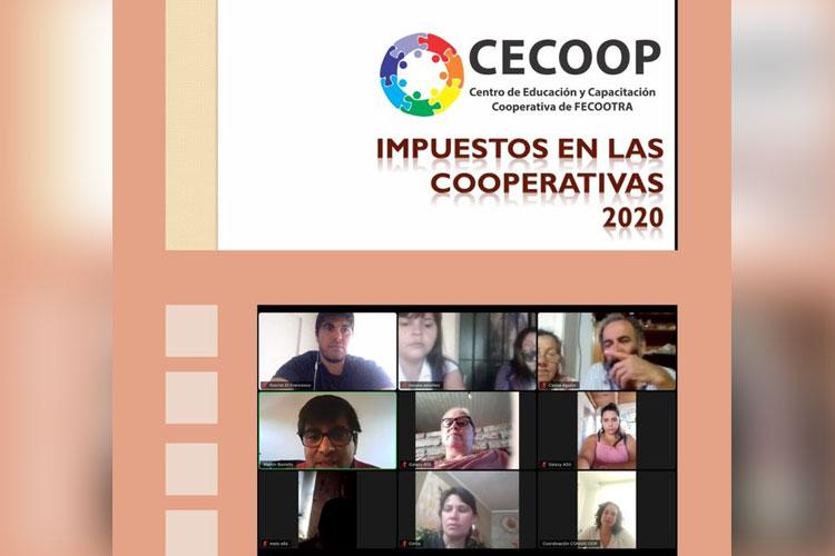 Charla sobre aspectos contables para cooperativas de trabajo. Crédito: Fecootra